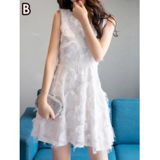 1151 SUMMER KOREAN (WHITE) SHORT DRESS