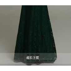 1019 Spring Lace Stretchable Slim Fit Cheongsam Collar Long Dress (RED WHITE GREEN BLACK) Ready Stock