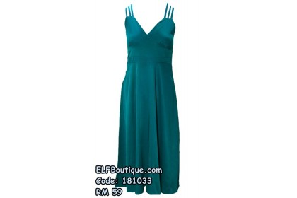 181033 Elegant Ladies Four-colour Long Dress (Green Blue Red Black)
