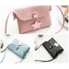 3002 READY STOCK STAR HANGING WOMEN SLING BAG (BLUE PINK BLACK)