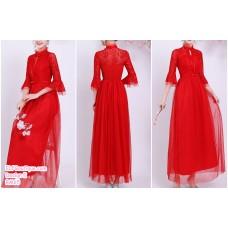 190204 Gold Bridesmaid Dress Dinner Evening Gown Long Dress Budget custom made
