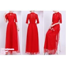 190205 Red Bridesmaid Dress Dinner Evening Gown Long Dress Budget custom made