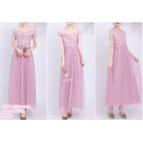 190206 Pink Bridesmaid Dress Dinner Evening Gown Long Dress