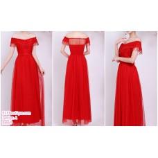 190206 Pink Bridesmaid Dress Dinner Evening Gown Long Dress