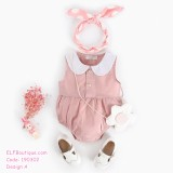 190302 European Stylish Girl's Romper