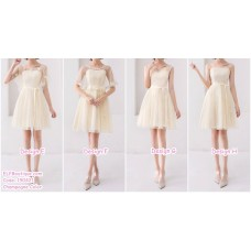 190421 Champagne Bridesmaid Dress