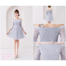 190421 Grey Bridesmaid Dress