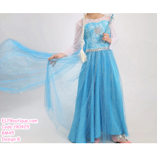 190425 European Baby Girl Frozen Princess Elsa Dress Costume