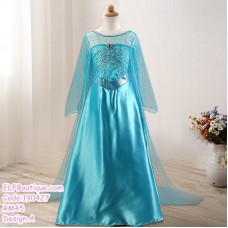 190427 European Baby Girl Frozen Princess Elsa Chiffon Cosplay Costume Dress