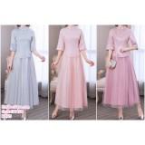 190428 Chinese Style Cheongsam Bridesmaid Maxi Dress Set