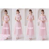 190432 Pink Bridesmaid Evening Dinner Maxi Dress