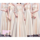 190519 Champagne Bridesmaid Maxi Dress Premium Custom Made