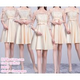 190520 Champagne Bridesmaid Mini Dress Premium Custom Made