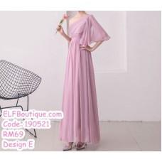 190521 Bean Chiffon Bridesmaid Maxi Dress Premium Custom Made