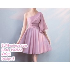 190522 Bean Chiffon Bridesmaid Mini Dress Premium Custom Made