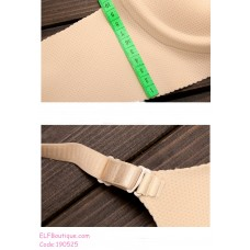 190525 Seamless Deep V Push Up Bra Panties Set
