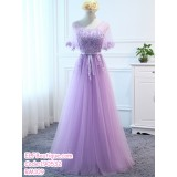 190532 Purple Bridesmaid Dinner Evening Maxi Dress Premium Custom Made
