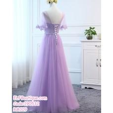 190532 Purple Bridesmaid Dinner Evening Maxi Dress Premium Custom Made