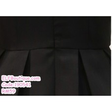 190541 Korean Short Sleeve Round Neck Dinner Evening Midi Dress Black