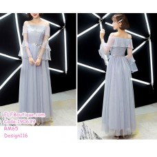190639 Bridesmaid Dinner Evening Long Gown Champagne/Blue/Pink