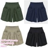 190640 Woman Cotton Plus Size L-5XL Elastic Pocket Short Pant