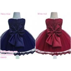 190644 Baby Girl 3months -24 months Sleeveless Ribbon Tutu Princess Dress