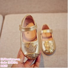 190817A Baby Girl Shiny Crown Princess Shoes