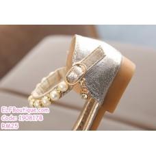 190817B Baby Girl Shiny Pearl Princess Shoes