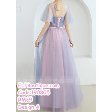 190805 Purple Pink Bridesmaid Dinner Evening Long Maxi Gown