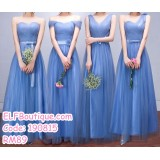 190815 Water Blue Bridesmaid Dinner Evening Long Maxi Gown