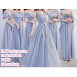 190821 Bridesmaid Dinner Evening Long Gown Grey