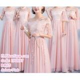 190897 Bridesmaid Dinner Evening Long Maxi Gown Dress Pink