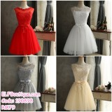 190898 Bridesmaid Dinner Party Short Gown Dress Champagne Red White Grey Custom Made