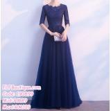 190899 Navy Blue Dinner Evening Midi Maxi Gown Dress Custom Made