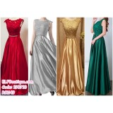 190710 Woman Sleeveless Dinner Evening Long Maxi Gown Dress Gold Wine Red Grey Green Custom Made