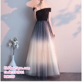 190931 Elegent Black Sequin Dinner Dress Wedding Party Annual Dinner Maxi Dress Plus Size S-3XL