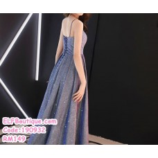 190932  Elegent Starry Pink Shining Dinner Gown Wedding Party Annual Dinner Maxi Dress  Size XS to 3XL