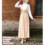 190832 Top Muslimah jumpsuit and top Black/ Pink/Beige/ Orange/ Navy blue