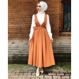 190832 Top Muslimah jumpsuit and top Black/ Pink/Beige/ Orange/ Navy blue