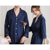 191043 Couple Pyjamas Robe Wedding Premium Quality series Red Grey Navy Blue
