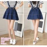 191088 Korean style A Line Sling Denim Skirt Cute Jeans Tutu Mini Skirt Blue