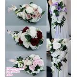 191090 Brides Hand Bouquet Simulation Rose Wedding Bouquet