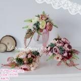 191091 Europe Retro Brides Hand Bouquet Simulation Silk Wedding Bouquet