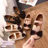 191055B Baby Girl Ribbon Peas Shoes Leather Shoes Black/Pink/Beige