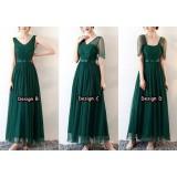 180601 Premium Maxi Bridesmaid Dress Long Evening Dinner Maxi Dress