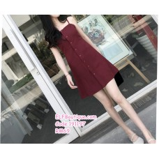 191197 Elegant Retro Sling Dress Mini A Line Dress Red