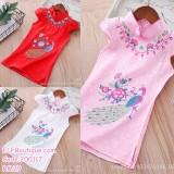 200117 Little Girl Cheongsam Dress White/Pink/Red