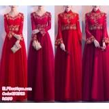 190923 Modified High Waist Red Chinese Traditional Retro Gown Maternity Woman Wedding Gown