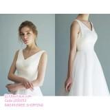 200153 Elegant Bride Pre Wedding Travel Photography ROM White Dress Gown Premium Custom Made