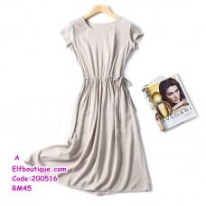 200516 Woman Short Sleeve Round Neck Beach Wear Plus Size XL-4XL